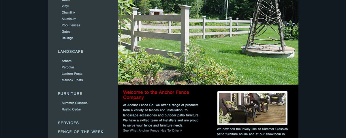 Anchor Fence website by ModSpot