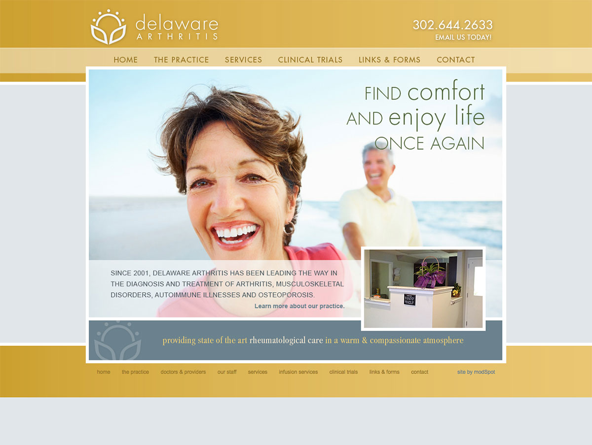 Delaware Arthritis website by ModSpot