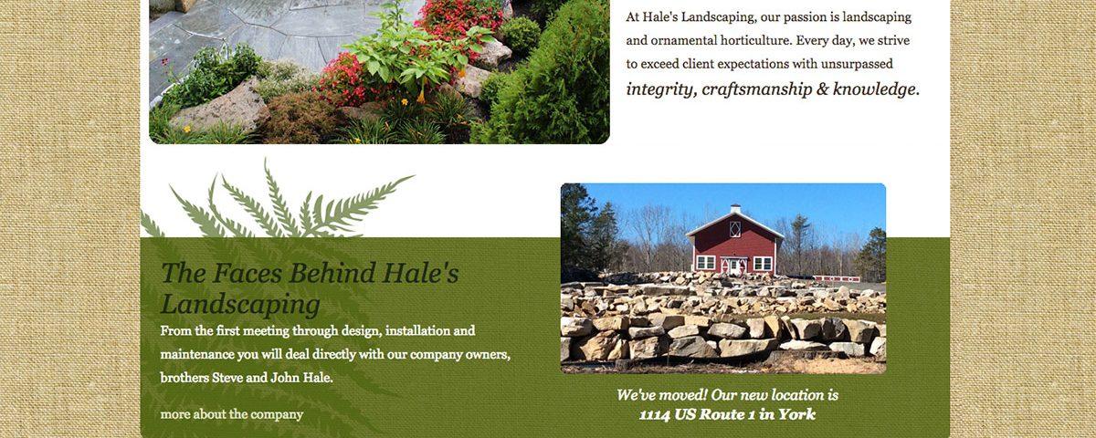 Hales Landscaping website by ModSpot