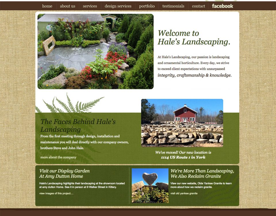 Hales Landscaping website by ModSpot
