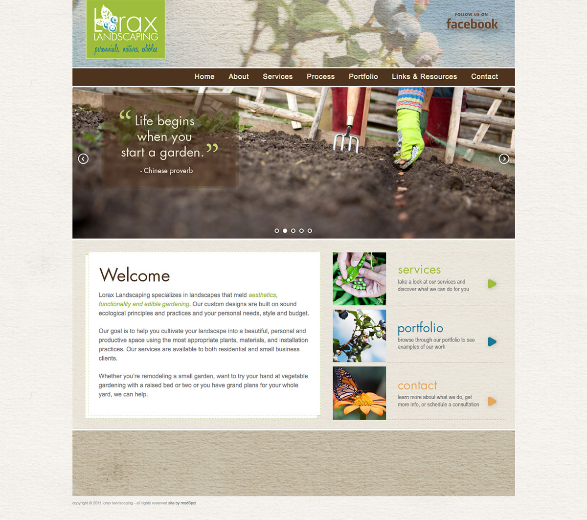 Lorax Landscaping website by ModSpot