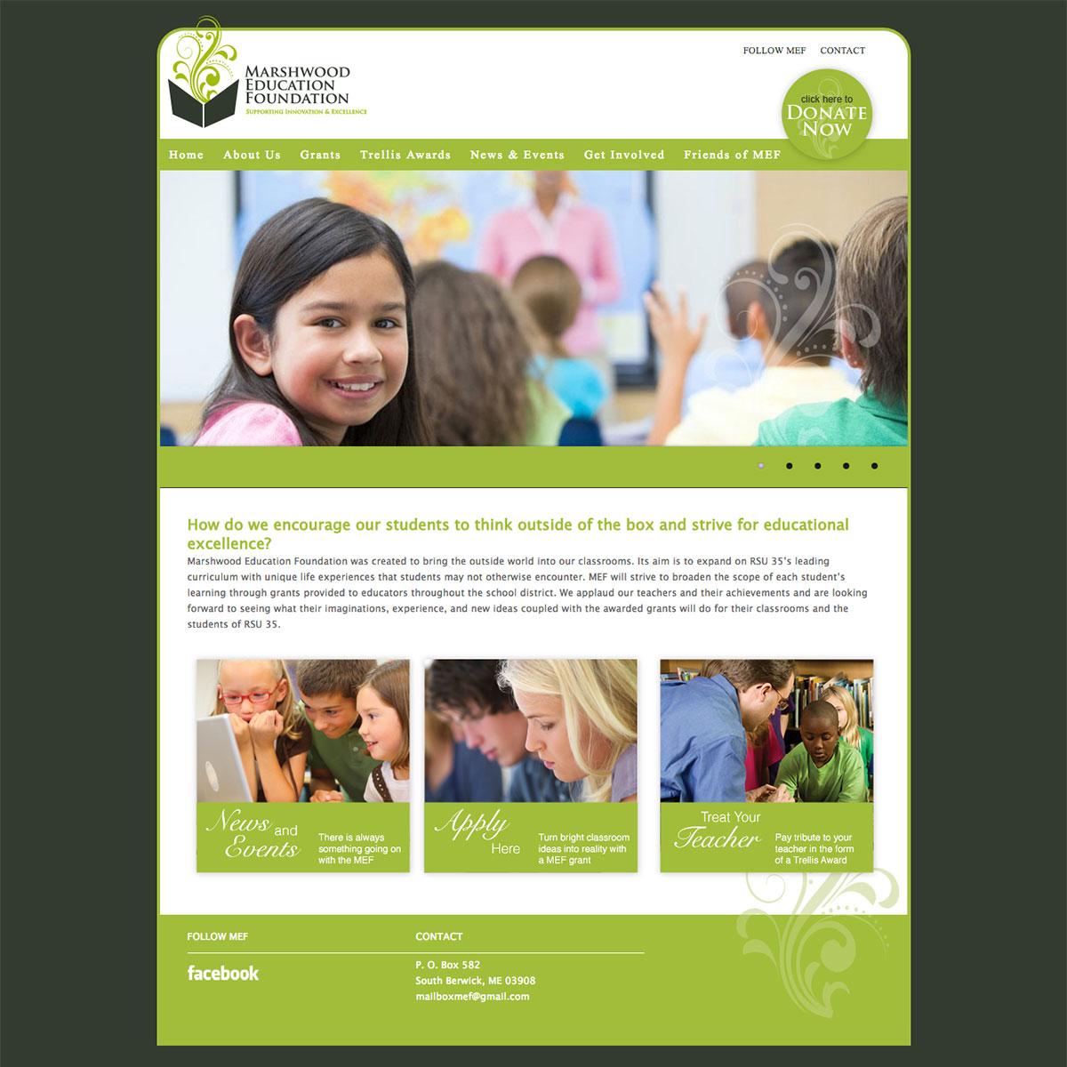 Marshwood Education Foundation website by ModSpot