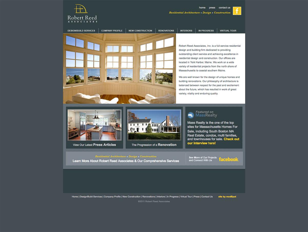 Robert Reed Associates website by ModSpot