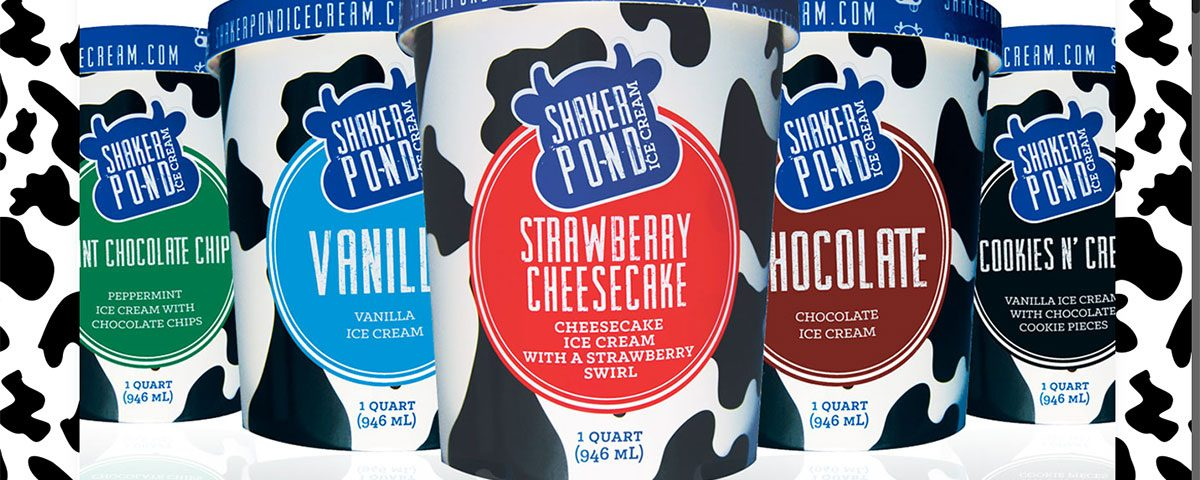 Shaker Pond Ice Cream website by Brand 1 Strategies and ModSpot
